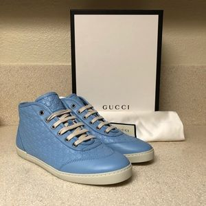 Gucci Micro Guccissima Sneaker Blue Sz 37.5 / 7.5